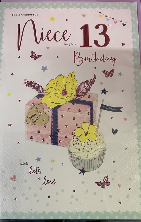 Niece 13th Birthday Card