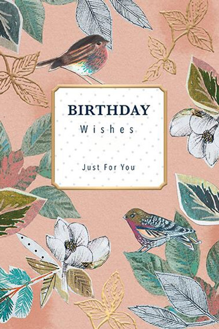 "Female Birthday Card ""Birthday Wishes Just For You"""