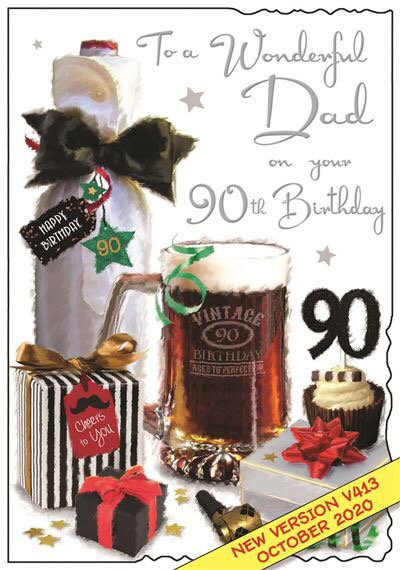 Dad 90th Birthday Card