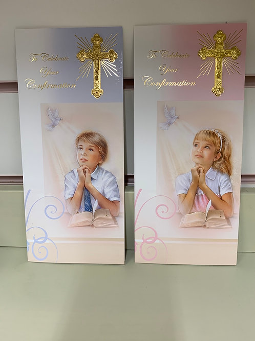 To Celebrate Your Confirmation Card Boy & Girl