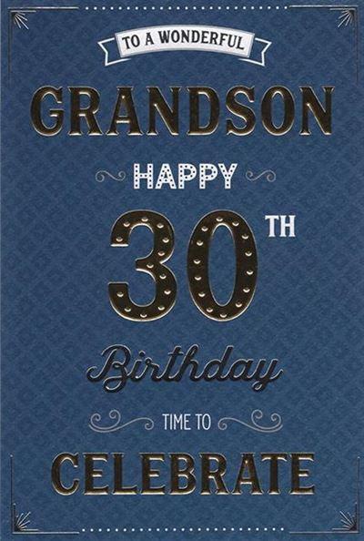 Grandson 30th Birthday Card