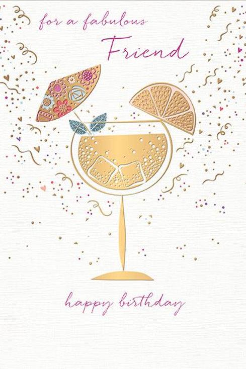 For a fabulous friend birthday card