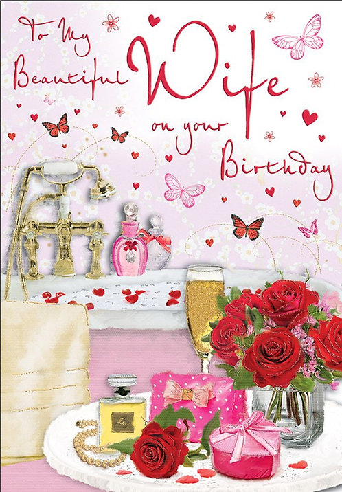 To my beautiful Wife on your Birthday