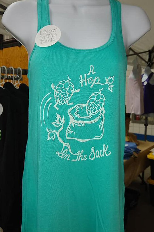 Woman's Teal Tank Risky Business
