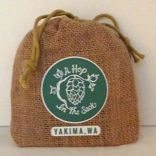 A Hop In The Sack Souvenir Bag with Actual Hops!