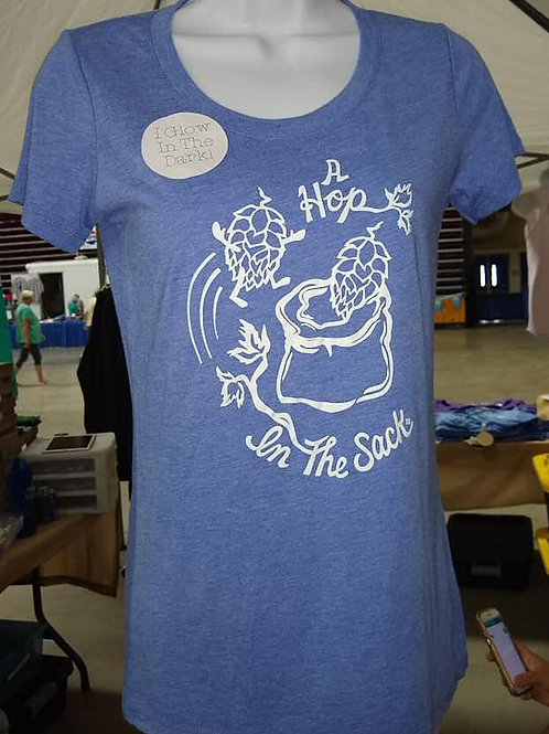 Woman's Blue T-shirt Risky Business