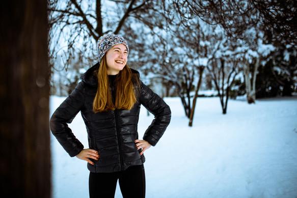 Sesión de invierno con Paula