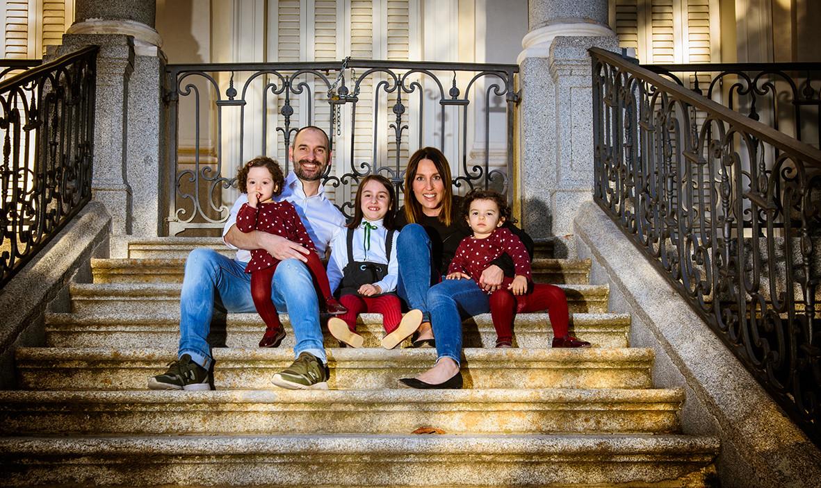 Familia en exterior