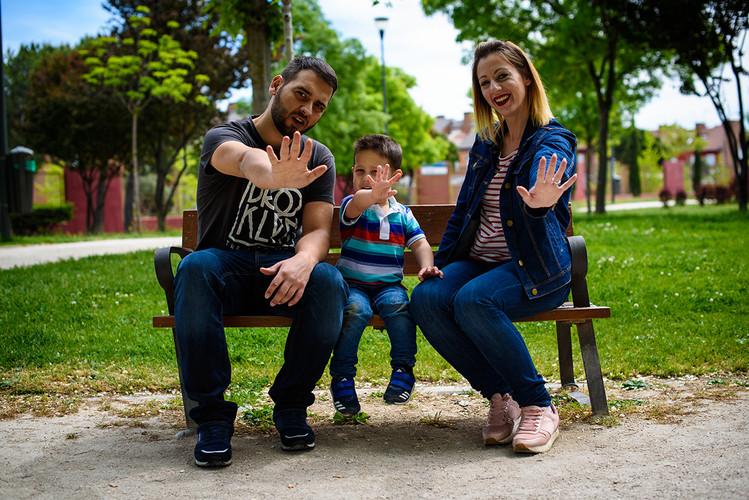 En familia en el parque