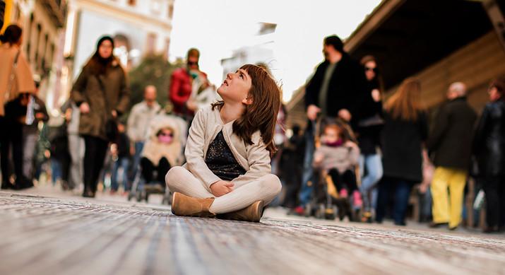Aitana en el centro de Madrid
