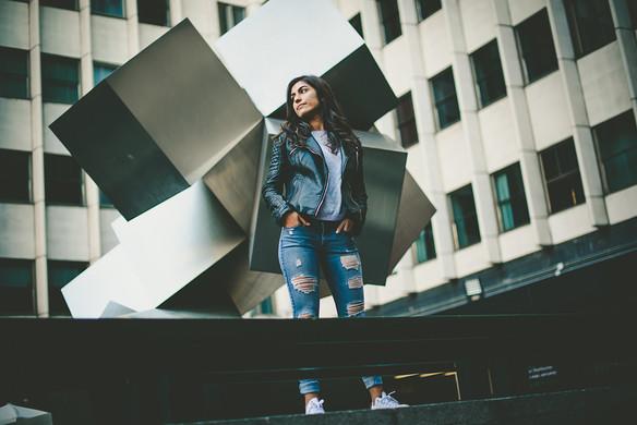 Lara en sesión urbana
