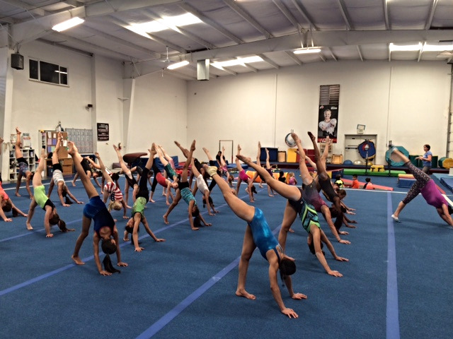 competitive girls gymnastics