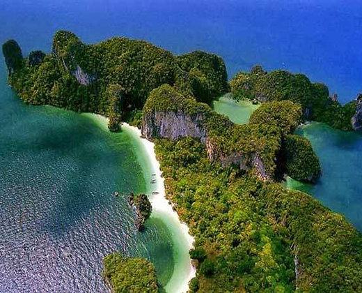 Vista aérea del parque nacional de las islas