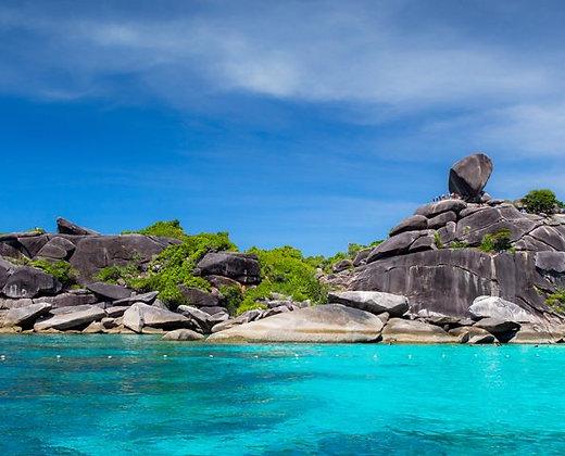 El parque nacional de las Islas similan es uno de los más protegidos de Tailandia
