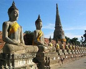 Los Budhas en Ayutthaya