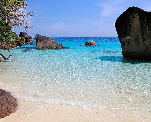 Las islas similan son las maldivas de los tailandeses