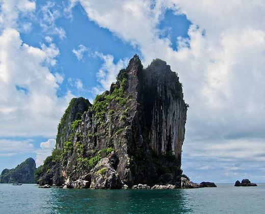 Los acantilados de las islas de trang