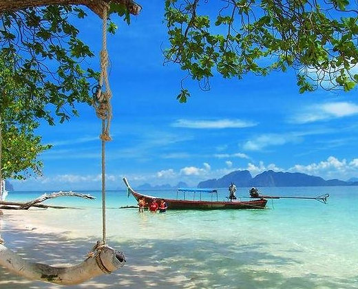 Koh Ngai es una isla de la provincia de krabi, como véis  la isla es de arena blanca