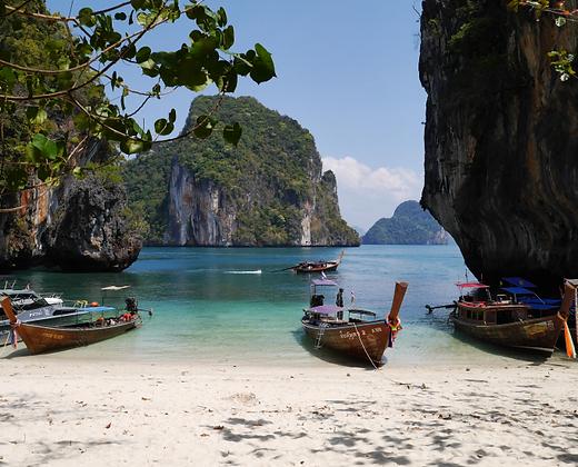 Maravilloso paisaje en las islas hong