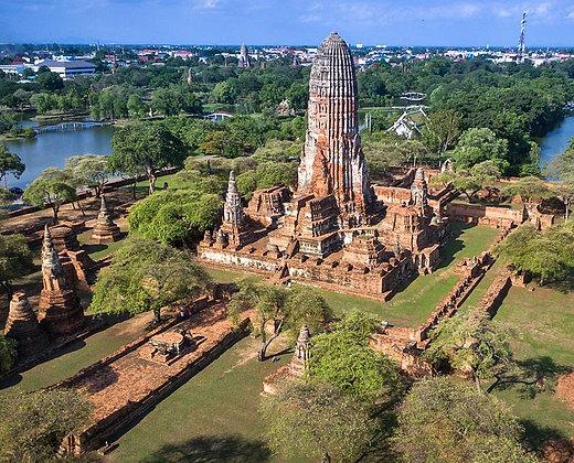 Vista aerea de Ayutthaya