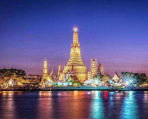 El Wat Arun de noche es todo un espectáculo