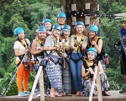 Tirolina en Mae Rim, Chiang Mai