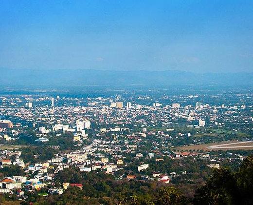 Bonitas vistas desde la montaña de Doi Suthep en Chiang Mai