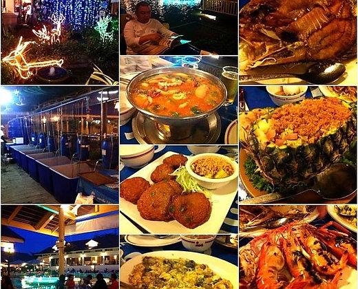 La comida tailandesa está exquisita para disfrutar con la familia