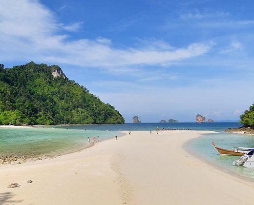 4 islas de krabi con marea baja