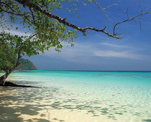 Spléndido paisaje en la isla de trang