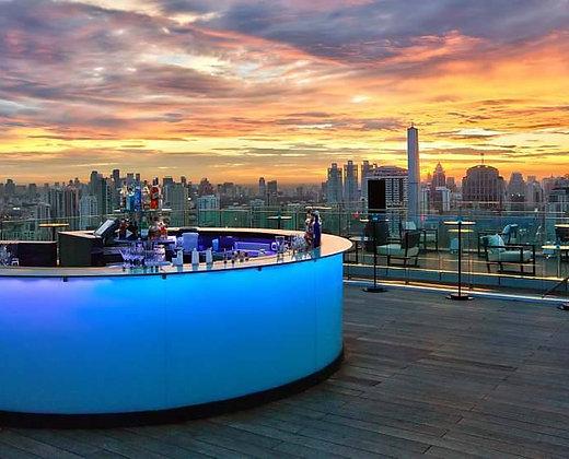 Los rooftops en Tailandia son muy atractivos para tomarse una copa