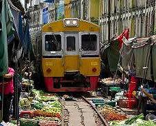 Mercado del Tren o mercado de Mae Klong
