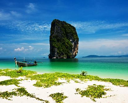 Paraíso de contraste de colores de las 4 islas de krabi