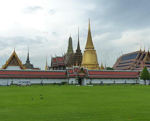 El gran palacio y el templo del budha esmeralda