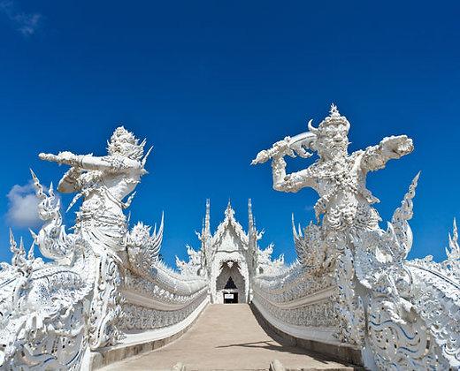El Wat Rong Khun o el templo blanco de Chiang Rai