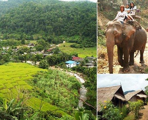 Montar con elefantes en Chiang Mai