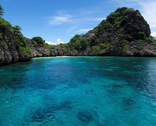 Multitud de corales y aguas transparentes en las islas de trang