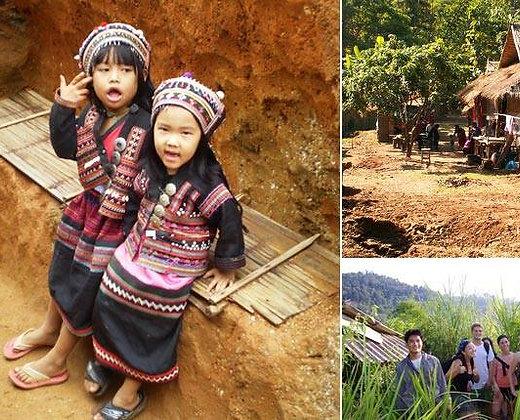 Indumentaria en Chiang Mai de dos niñas pequeñas