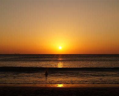 Puesta de sol en la isla surin