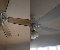Before & After Ceiling Fan