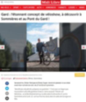 Article Midi Libre Véloshow 02/07/2019