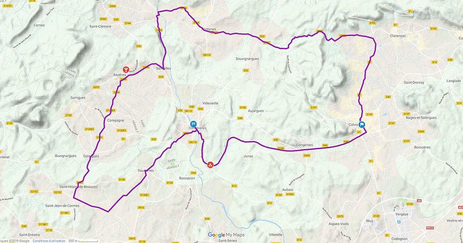 Map balade 60km Guy Bolle Véloshow