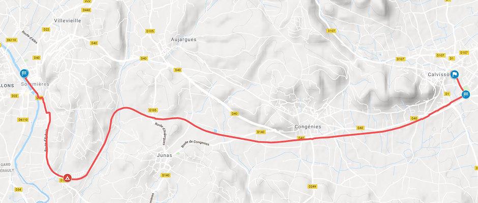 Map balade 20km Ella Petite Reine Véloshow