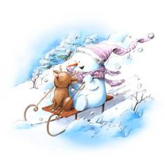 snowman-sledge