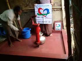 A constructed well in Rohingya Camps