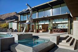 sculpture in pool
