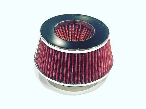 "4""H COLD/SHORT RAM INTAKE HIGH FLOW CONE AIR FILTER 3""/3.5"" REDUCER"
