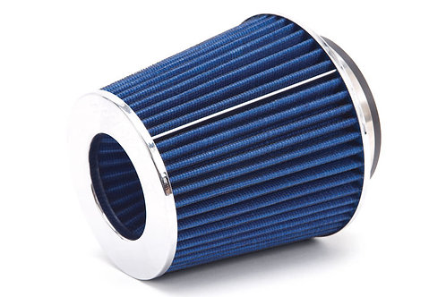 "4""6.75""H COLD/SHORT RAM INTAKE UNIVERSAL COTTON BLUE AIR FILTER+3""/3.5"" REDUCER"