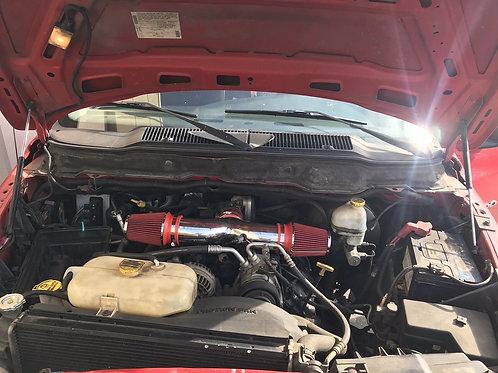 Dual Twin Air Intake Kit 02-07 RAM1500 04-09 Dakota/Durango 3.7L V6/4.7L V8