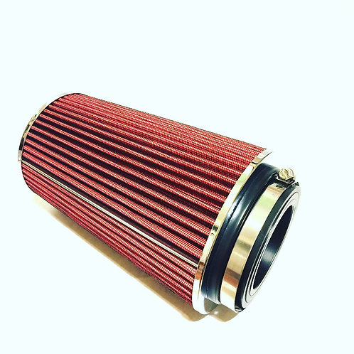 "10""H COLD/SHORT RAM INTAKE HIGH FLOW CONE RED AIR FILTER 3""/3.5""/4"" REDUCER"